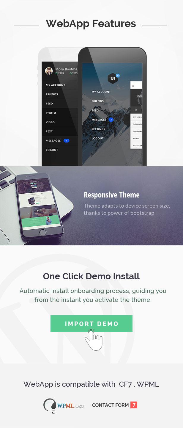 app wordpress theme
